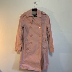 Marc by Marc Jacobs Pink Trench Coat Big Buttons